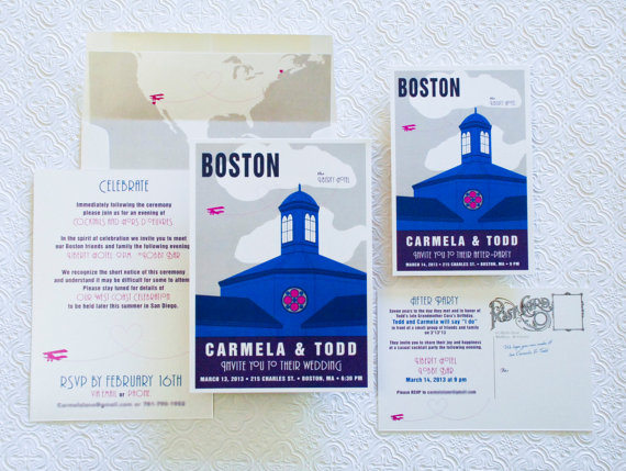 boston vintage wedding invitation poster - 5 Creative Wedding Invitation Styles