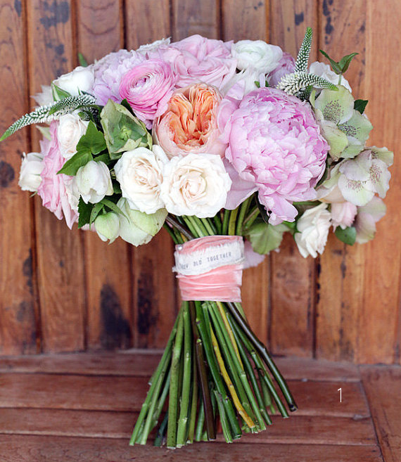 Bouquet Wrap Ideas (via Emmaline Bride) - bouquet wrap by The Lonely Heart