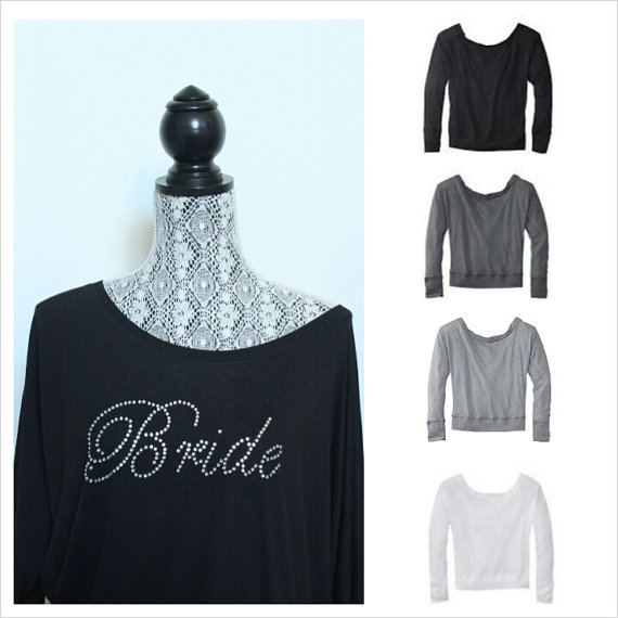 bridal cover ups off the shoulder sweatshirt