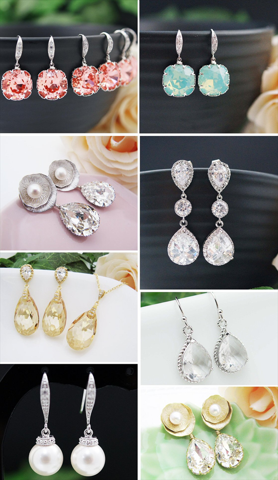 12 Gorgeous Bridal Earrings for your Day (earrings nation)