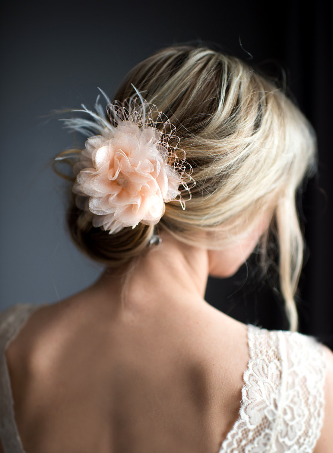 bridal fascinator hair flower | what to wear instead of a veil