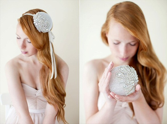 How to Rock a No Veil Wedding Look (via EmmalineBride.com) - mini bridal hat by sibo designs