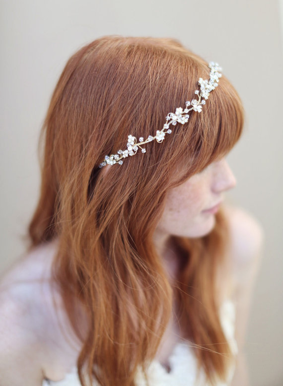 bridal hair vine via 15 Stunning Wedding Veil Alternatives