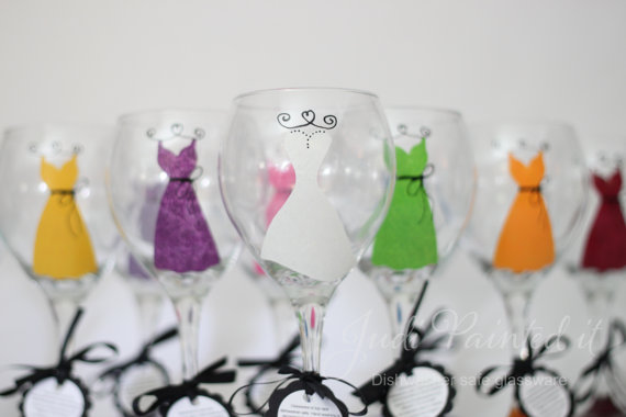 7 Clever Wedding Drink Accessories (wine glasses: judi painted it)