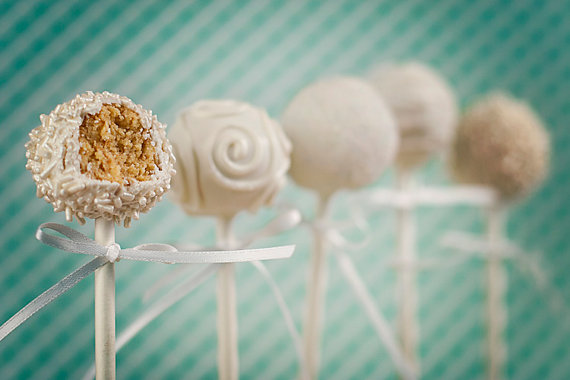 50 Best Bridal Shower Favor Ideas: bridal shower cake pops (by kylie's cake pops)