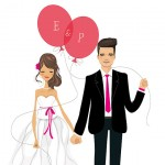 reusable wedding decorations - illustrated print