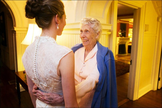 bride with her grandmother - Liriodendron Mansion Wedding