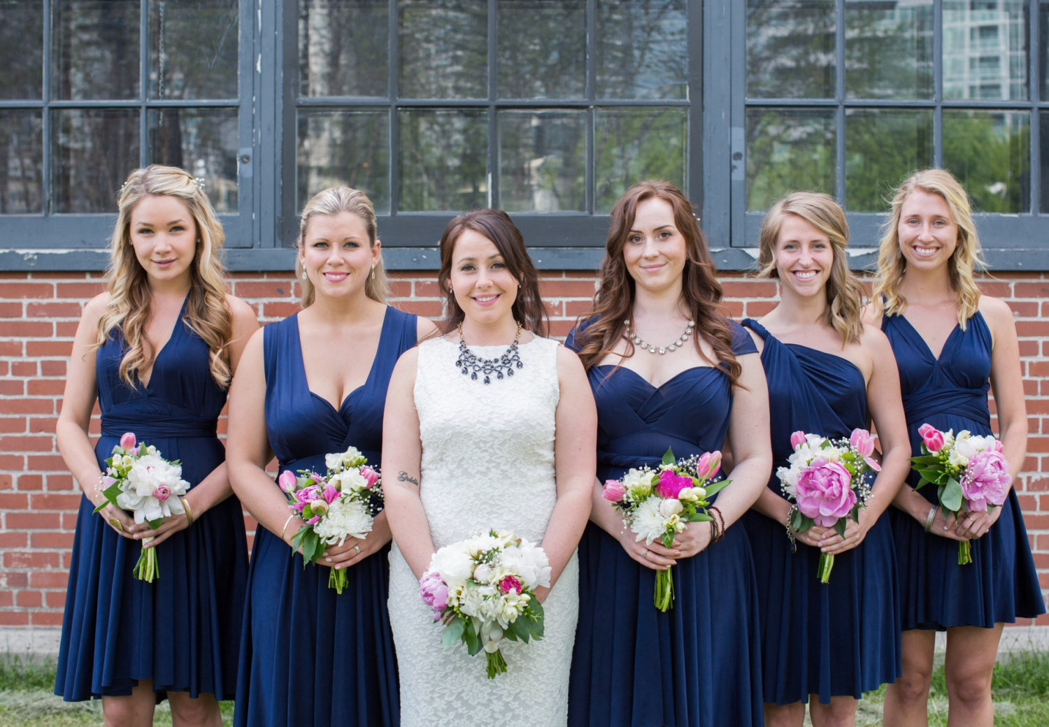 blue convertible bridesmaid dress | via http://emmalinebride.com/bridesmaids/bridesmaid-dress-worn-different-ways/