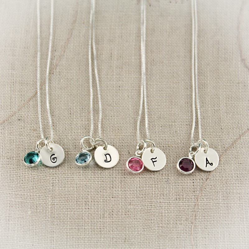 bridesmaid initial necklace | via http://emmalinebride.com/2015-giveaway/bridesmaid-initial-necklaces/