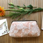 bridesmaid lace clutch purse