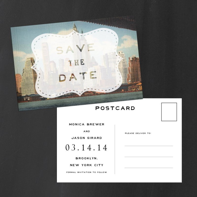 brooklyn new york | Save the Date Postcards