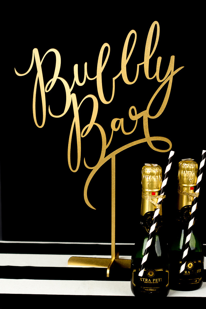 bubbly bar better off wed | https://emmalinebride.com/planning/cost-bar-weddings/