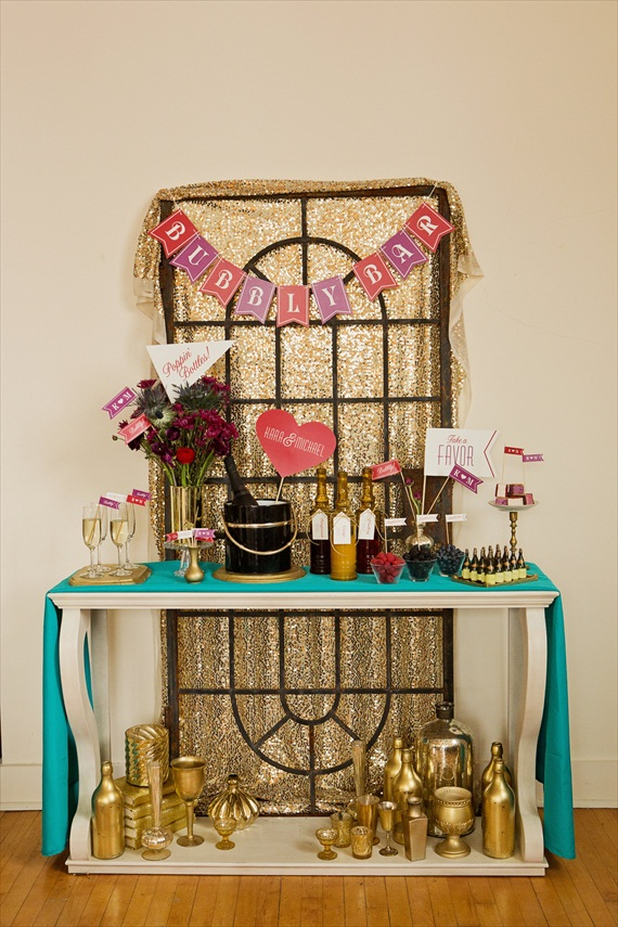 DIY Champagne Bar Inspiration