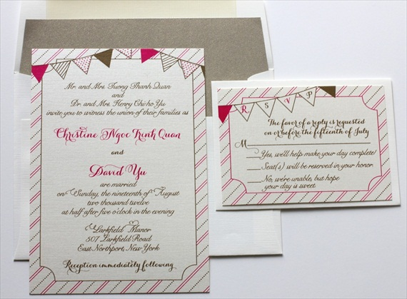 Wedding Stationery Giveaway! (invitations: blush paperie)