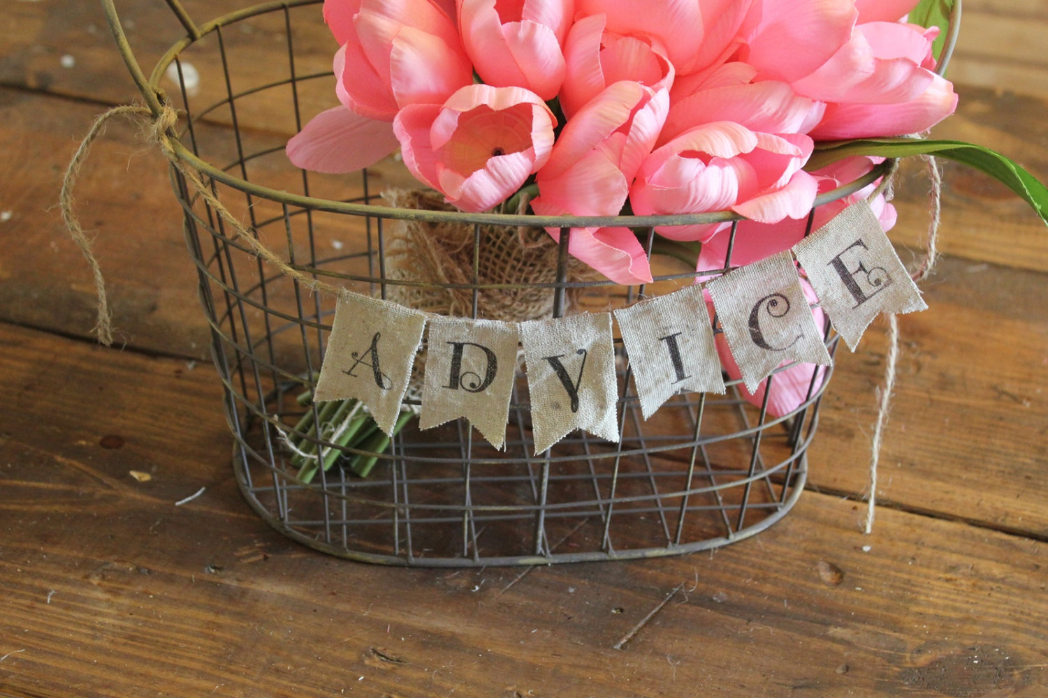 burlap advice banner | 50 Best Burlap Wedding Ideas | via http://emmalinebride.com/decor/burlap-wedding-ideas/