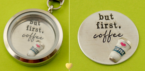 But first, coffee. | Offbeat Wedding Theme:  Floating Lockets