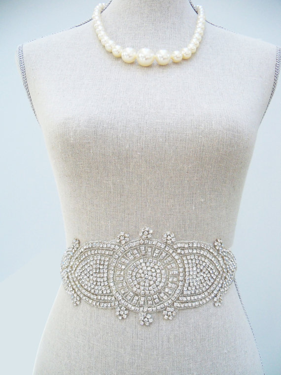 How to Choose a Bridal Sash in 3 Easy Steps (sash by SparkleSM) - cadence 1920s sash