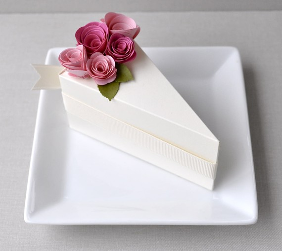 Cake Boxes (by Imeon Design via EmmalineBride.com)