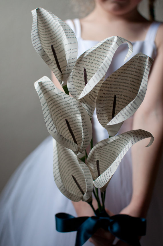 calla lilies paper via 7 Paper Flower Bouquets to Pick for Weddings
