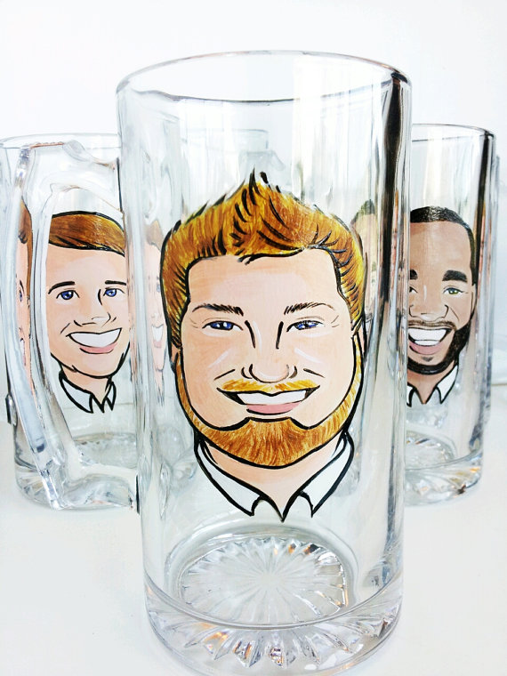 cariacature-groomsmen-glasses