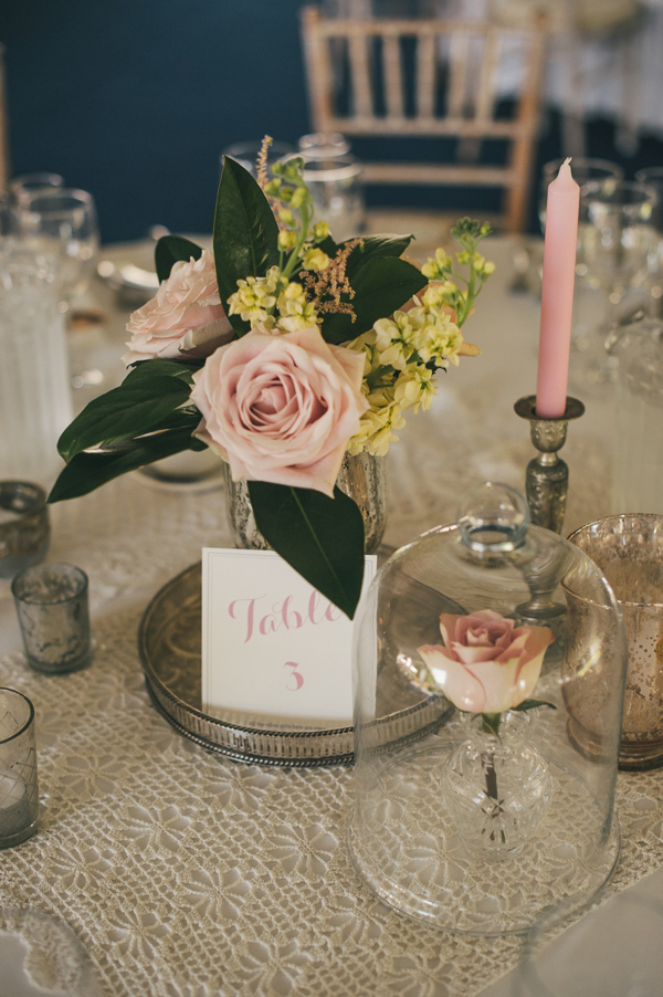 centerpiece idea with silver platter