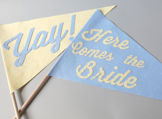 Ceremony Exit Ideas: Ceremony Flags (by BetaWife)