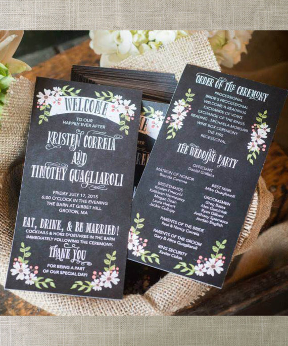 ceremony programs by creative union design