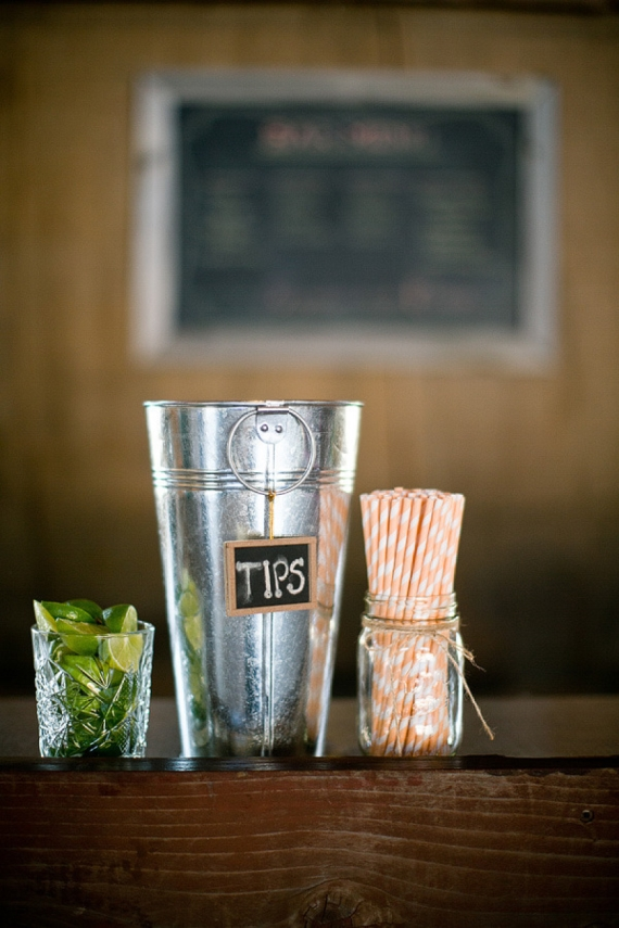 chalkboard sign tips jar