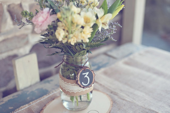 14 Chalkboard Wedding Ideas - chalkboard table numbers (by pnz designs, photo by melania marta photography)