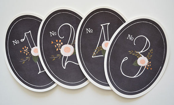 decorative table numbers chalkboard inspired (by the first snow)