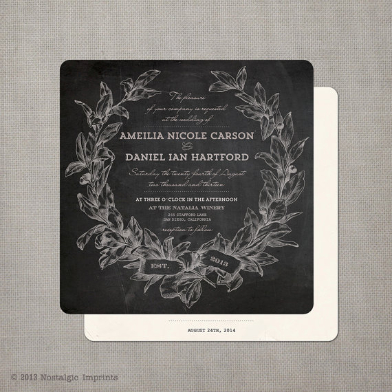 14 chalkboard wedding ideas chalkboard wedding invitation by