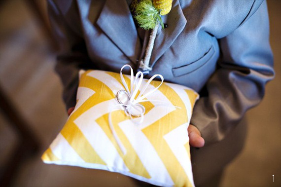 chevron-wedding-ring-pillow-yellow