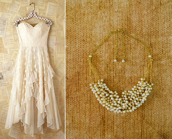 Chunky Pearl Wedding Necklaces (by Sukran Kirtis via EmmalineBride.com)
