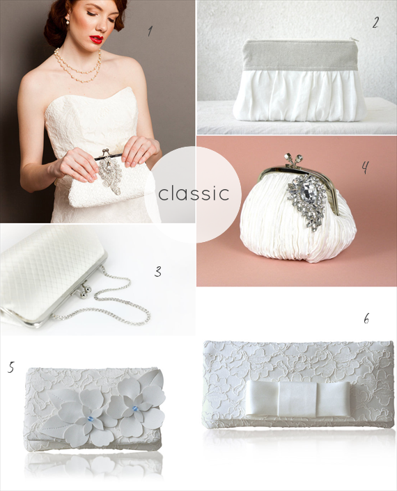 classic wedding clutches by theme