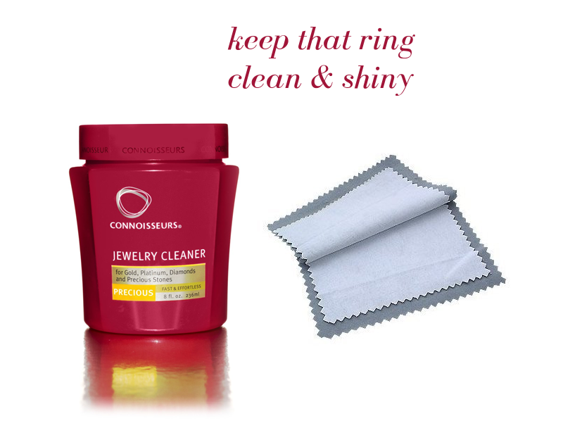 clean that ring | via http://emmalinebride.com/bridal/engagement-ring-care/