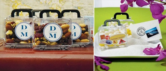 clear luggage box wedding favor containers