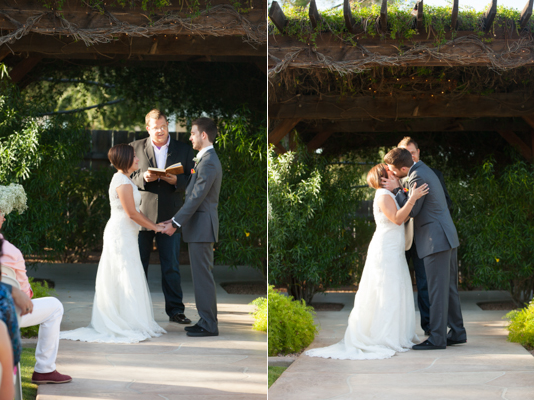rustic chic arizona wedding at Shenandoah Mill bride and groom married