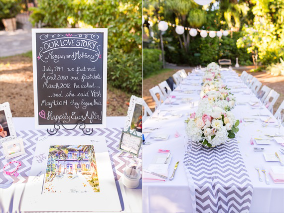 Filda Konec Photography - Hemingway House Wedding - custom chalkboard wedding sign and wedding table