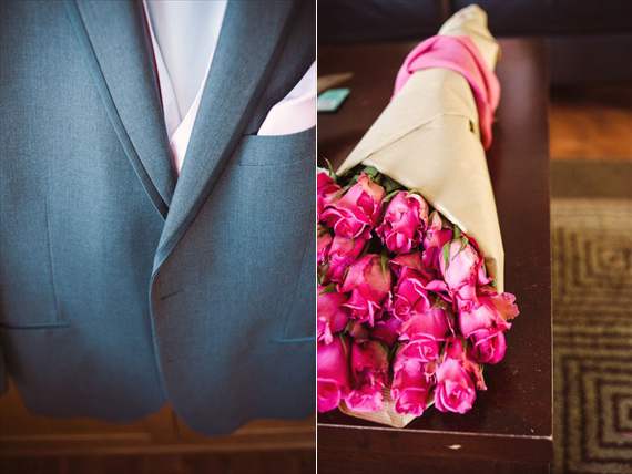 LaCoursiere Photography - groom's jacket and flowers
