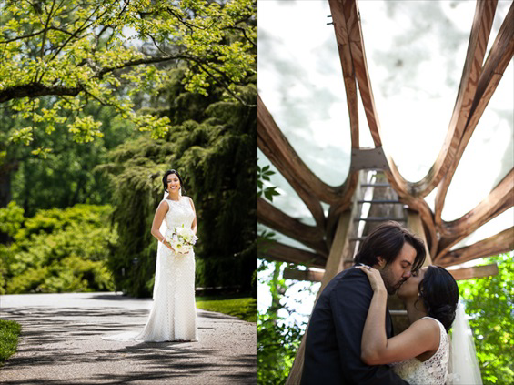 Daniel Fugaciu Photography - bride and groom kiss - tyler arboretum wedding