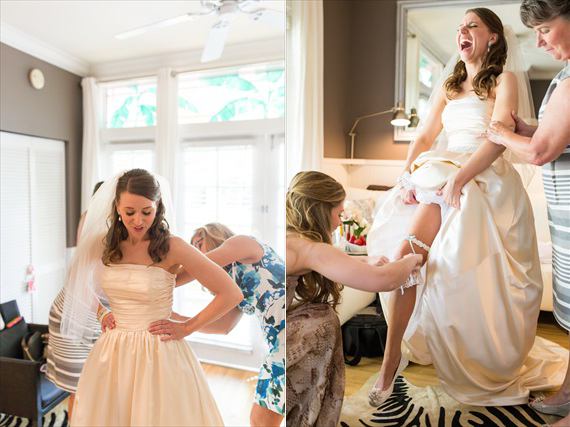 Filda Konec Photography - Hemingway House Wedding - bride with her garter