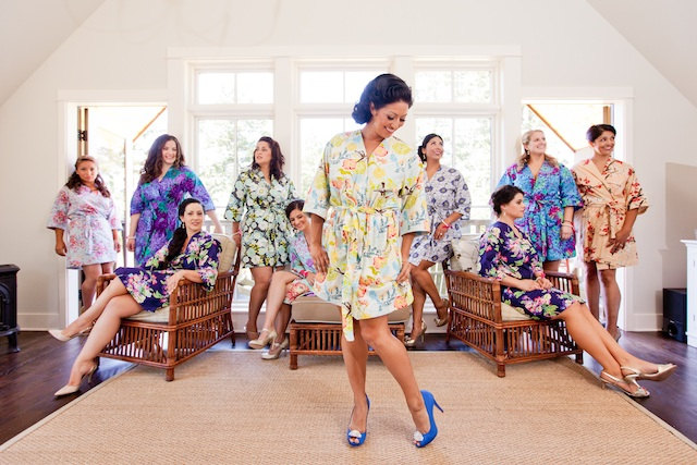 colorful bridesmaid robes love this one