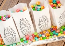 Colorful Popcorn Weddnig Favor Bags