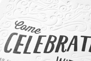 come celebrate with us letterpress invitations weddings