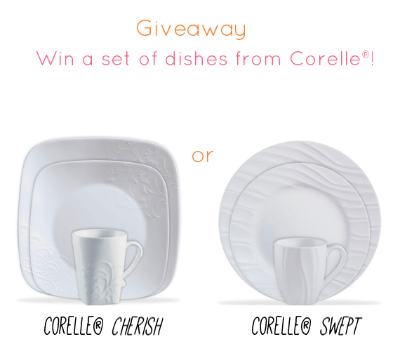 How to Register for Your Wedding - Corelle Dish Set Giveaway