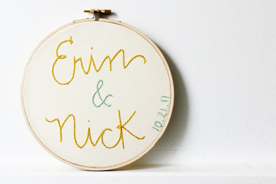 cotton anniversary gift embroidery hoop by merriweather council via 27 Amazing Anniversary Gifts by Year https://emmalinebride.com/gifts/anniversary-gifts-by-year/
