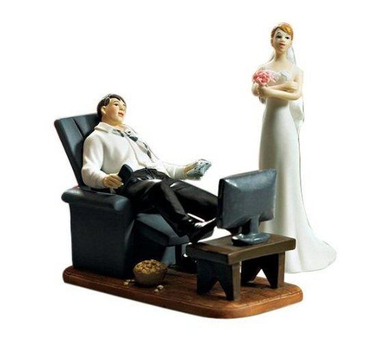 Unique Cake Toppers - couch potato cake topper