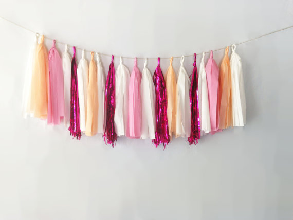 creamsicle tassel garlands