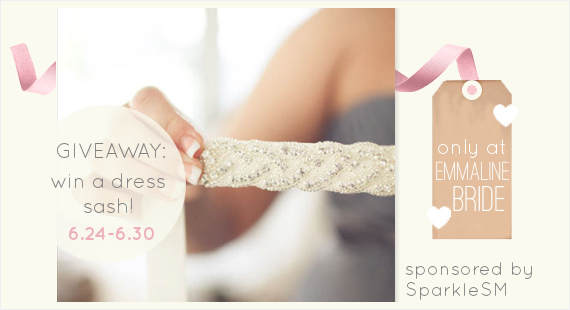 crystal dress sash (by sparklesm) via EmmalineBride.com