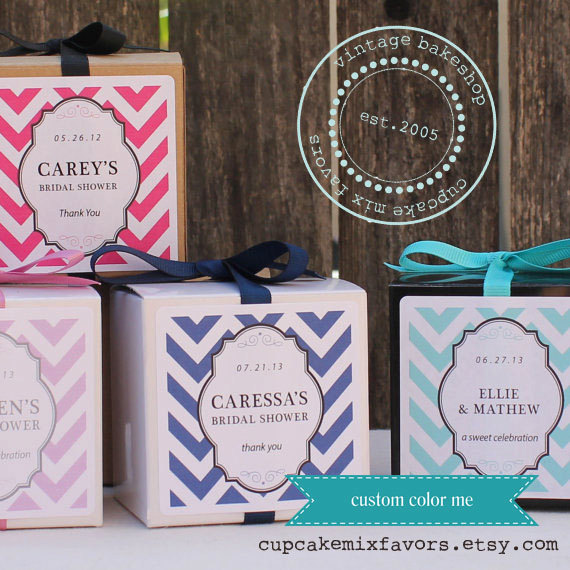 50 Best Bridal Shower Favor Ideas: cupcake mix (by cupcake mix favors)